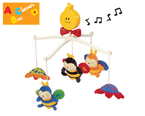 K's Kids Musical Cot Mobile - Clever Bees