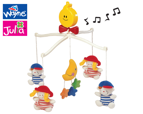 K's Kids Musical Cot Mobile - Wayne & Julia